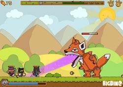Злой босс Лис из игры Коты Ударная Сила