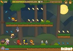 Локация 'тёмный лес' в игре Коты Ударная Сила