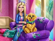 Щенок Барби - Бесплатные флеш игры онлайн