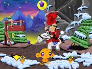 Счастливая Обезьяна – ниндзя 3 - Бесплатные флеш игры онлайн